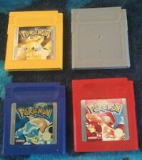 Nintendo Gameboy Pokemon 4 Game collection Blue Red Yellow and Silver. Gameboy