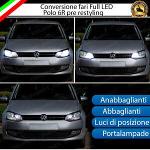 KIT FARI FULL LED VW POLO 6R ANABBAGLIANTI ABBAGLIANTI POSIZIONE CANBUS NO ERROR