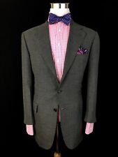 Brioni Mens Grey Nailhead Cashmere Silk Blend PIUMA Sport Coat Jacket 40S Recent