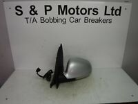 Volkswagen Golf Mk5 04-08 NS Electric Power Fold Wing Mirror 12 Wire Silver
