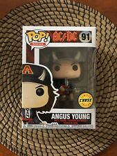 FUNKO POP! ROCK ANGUS YOUNG HORNS CHASE NEW! #91 AC/DC LIMITED EDITION HOT TOPIC
