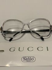 NICE Vintage Authentic Gucci Rx Eyeglasses FRAMES  Clear Italy
