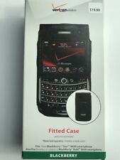 New OEM Verizon Fitted Leather Case for Blackberry Bold 9650 / Tour 9630 - Black