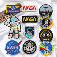 NASA Astronaut Embroidered Sew On Hook Loop Patch Badge Bag Fabric Craft Sticker