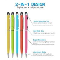 20x 2 in1 Touch Screen Stylus Ballpoint Pen for iPad iPhone Tablet Wholesale