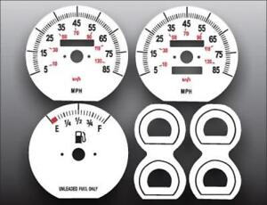 1991-1996 Jeep Cherokee Non Tach Dash Instrument Cluster White Face Gauges 91-96