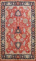 Vegetable Dye Heriz Serapi Oriental Hand-knotted Area Rug Geometric Carpet 9x12