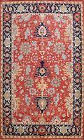 Vegetable Dye Heriz Serapi Oriental Hand-knotted Area Rug Geometric Carpet 9x12