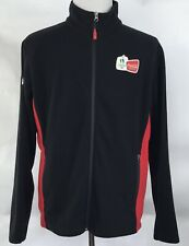 Coca-Cola Vancouver 2010 Olympics Black Full Zip Fleece Jacket Coat Size Large