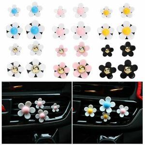 Auto Bling Aromatherapy Cute Exquisite Small Daisy Car Clips Car Air Vent Clip