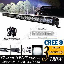 39INCH 180W CREE LED CURVED WORK LIGHT BAR SINGLE ROW COMBO OFF ROAD 4WD TRUCK