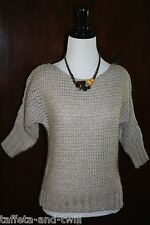 New Urban Outfitters Sweater Blouse Top XS 0 Pullover Chunky Knit Ivory Neutral