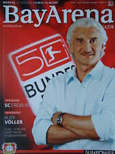 Programm 2012/13 Bayer 04 Leverkusen - SC Freiburg