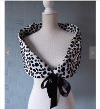 Cruella de vil fancy dress costume, Dalmatian Fur stole, Cruella  wrap, cape