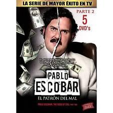 Pablo Escobar El Patron del Mal Parte 2 (DVD 5-Disc) EXCELLENT CONDITION