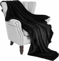 Soft Cosy Fleece Blanket Sofa Throw Faux Fur Mink Double & King Size