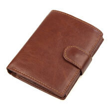 New Men Wallet Coin Card Holder Brown Genuine Leather Bifold Purse Wallets