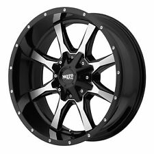 "Moto Metal 20x9 MO970 Wheel Gloss Black Machined 6x5.5/6x139.7 6x135 +18mm 5.71"""