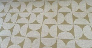 Oilcloth Fabric, PVC Coated, Morris Designs, Athena in Gold, Per Meter