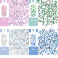 4Colors Opal Jelly 3D Nail Art Rhinestones Mix Size Flat Bottom  Tips