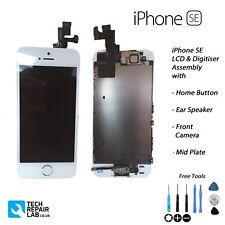 NEW iPhone SE Retina LCD & Digitiser Touch Screen Fully Assembled w/Parts WHITE
