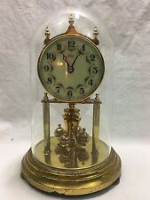 Vintage KUNDO Kieninger & Obergfell Anniversary Clock With Glass Dome