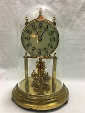 Vintage KUNDO Kieninger & Obergfell Anniversary Clock With Glass Dome