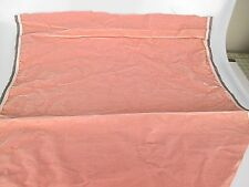 Antique velvet fabric remnant France Victorian cotton silk light pink Piece