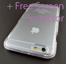 """CLEAR TRANSPARENT 2 PIECES HARD SHELL SNAP-ON CASE COVER APPLE IPHONE 6 6S 4.7"""""""