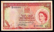 Rhodesia & Nyasaland  10 Shillings 1960  P-20  VF