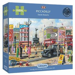Gibsons Jigsaw Puzzle Piccadilly 250 Xl Pieces Jigsaw Puzzle