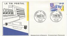 FIRST DAY COVER / PREMIER JOUR FRANCE 1991 / TRI POSTAL / JOURNEE DU TIMBRE