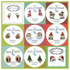 Christmas Stud Earrings Holiday Santa Gingerbread Man Gnome Tree  (your choice)