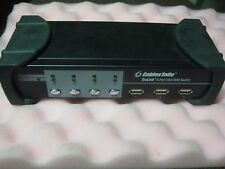 CABLESTOGO TRULINK 4-PORT VGA USB KVM SWITCH MODEL: 35555