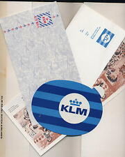 KLM airlines ON BOARD KIT baggage sticker kid game cover letter - ax