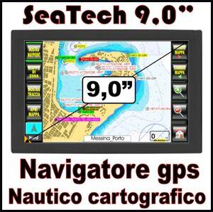 "NAVIGATORE GPS NAUTICO CARTOGRAFICO PLOTTER - DISPLAY 9,0"" CON CARTOGRAFIA"