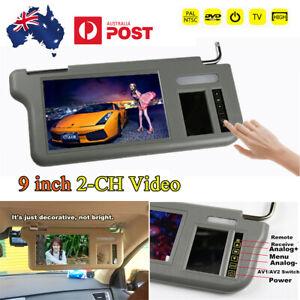 9 inch Car Right Side TFT LCD Monitor Sunvisor Media Screen For DVD/VCD/GPS/TV