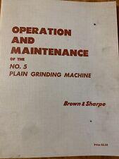 Brown Amp Sharpe No 5 Grinder Manual