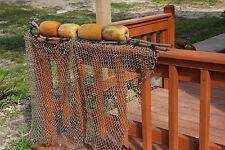 (1) Authentic Gulf Coast Fishing Decor, Rope Float Fish Net,Boat Dock Decor Gift