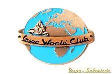"""Metall-Plakette """"Vespa World Club"""" - Klub Piaggio Emblem Emaille Email V50 PX PK"""