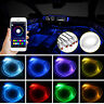 4x RGB LED Neon Strip Leiste Ambientebeleuchtung Auto Audio bluetooth