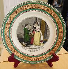 "9"" ADAMS CRIES OF LONDON Plate Dish ORANGES Wheatley Schiavonetti Green Brown"