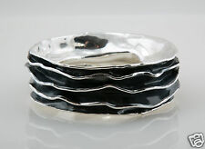 Bat-Ami Sterling Silver Oxid Bracelet Bangle BR1334