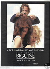 Publicité 2014 - Jean-Claude BIGUINE Coiffure