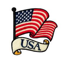 USA-AMERICA FLAG BANDIERA-ricamate aufbügler Patch NUOVO #9056