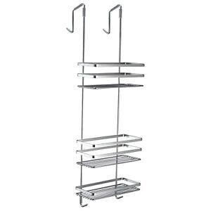 3 Tier Shelf Over Door Hanging Shower Caddy Bath Basket Shampoo Holder Bathroom