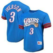 3 Jersey T-Shirt Round Neck Sports Comfort Top Basketball t-shirt RENJUN 2019 All-Star Basketball Short Sleeve Iverson No Color : Red, Size : 2XL