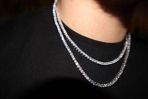 PREMIUM 3mm 20 Inch White Gold Diamond Tennis Chain Necklace