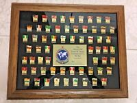 Moscow 1986 GOODWILL GAMES COMMEMORATIVE PIN SET Restored Frame, 62 Pins