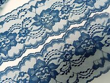 "NAVY BLUE LACE 20 yds. 4"" Wide ~ WEDDING, RUNNERS, BOWS, invitations, trim ~"